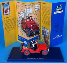 VOITURE TINTIN CAR ATLAS n°7 La jeep rouge de Tintin au pays de l'Or noir HERGE
