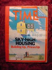 TIME magazine September 12 1977 Sept 9/12/77 Ski-High Housing Building prices up