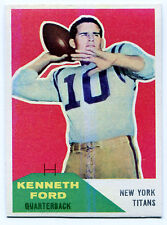 1960 Fleer KENNETH FORD #50 RC New York Titans Rare Error ED DENK 125 Wrong Back