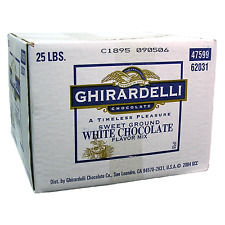Ghirardelli Sweet Ground White Chocolate Flavor Powder - 25 lb. 1box (Free ship)
