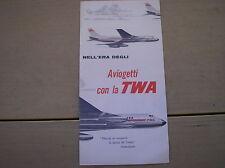 TWA BROCHURE AEREO CONVAIR 880 JETSTREAM DC-3 FORD TRI MOTOR CONSTELLATION
