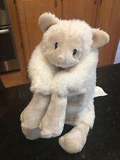 Little Miracles Costco Sheep Lamb Snuggle Me Plush Flat Pillow Sherpa Cream Face