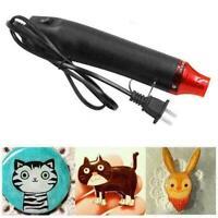 300W Electric Hot Air Tool Mini Hot Air Blower Embossing Tool Nozzles Heat P6B5