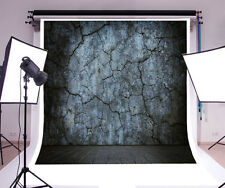 8x8ft Photography Background Vinyl Backdrop Paper Studio Props Blue wall crack