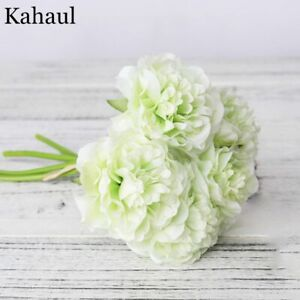 Peony Artificial Silk Flower Faux Living Room Bride High Quality Fake Decoration
