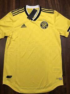 New Adidas Mens Columbus Crew Soccer Jersey Shirt Size XL Yellow Black $120