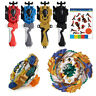 Beyblade Burst Gold Geist Fafnir Starter Spinning Top Bey Launcher Grip Kids Toy