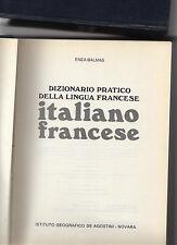 dizionario italiano francese-francese italiano de agostini - enea balmas - 2 vol
