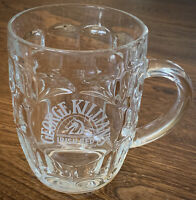 George Killians Irish Red Etched Logo Dimple Glass Beer Mug 16 oz
