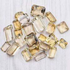 483 TCW Loose Citrine Emerald & Oval Cut Gemstone Mixed Lot 96.6 Grams