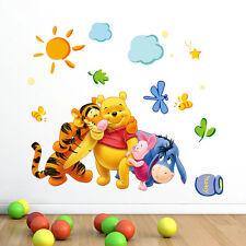 Cute Winnie the Pooh Nursery Room Wall Decal Decor Stickers Cartoon Kids Baby KG