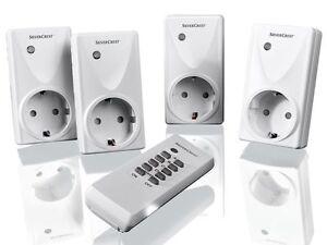 EU-Stecker /Plug and Play Funksteckdosen mit Fernbedienung Funksteckdosen Set 5-tlg Smart Ferngesteuerte Steckdose Schalter mit 2 Fernbedienung Batterie ist NICHT enthalten