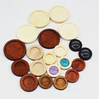 Glass Cabochon Jewelry Making Round Wooden Cabochon Tray Pendant Base Cameo