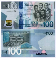GHANA: 100 CEDIS Banknote -  2019 P NEW 3D SECURITY TAB UNC condition