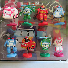 "Poli Robocar Birthday Cake Topper (Set Of 8pc) 1/4"" X 1-1/2"""