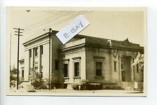Vincennes IN Indiana (Knox Co) RPPC real photo, Post Office, old car, 1950's?