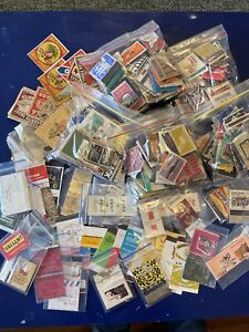 Large LOT OF Vintage MATCHBOX LABELS And matchbooks . Some are Cigarette Brands