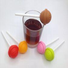Flower Tea Filter Lollipop Tea Infuser Silicone Tea Strainer Loose-Leaf Diffuser