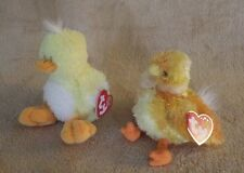 Ty Beanie Babies Billingham Month & Chickie Plush Bean Bag Stuffed Animal Nwt
