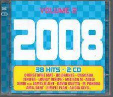 2 CD COMPIL 38 TITRES--TOUS LES HITS 2008 VOL 2--CASCADA/MAE/ADELE/SINIK/BENT