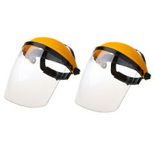 2x Protective Welding Safety Face Shields Head Mounted Polycarbonate Helmets