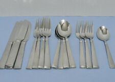 Wallace 18/10 Stainless Flatware NAPOLI FROST Dinner Salad Forks Spoons Frosted