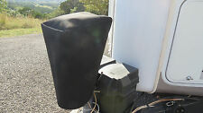 LARGE SIZE BLACK Electric Trailer Tongue Jack Cover - BLACK SUNBRELLA! (LCI etc)