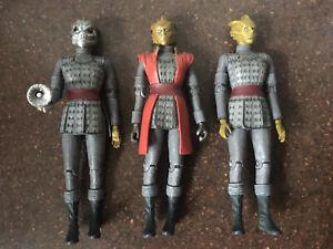 3 x DOCTOR WHO SILURIAN FIGURES - Warrior Alaya , General Restac & Warrior!