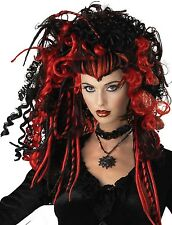 NOIR ROUGE VAMPIRE Dread Dreadlock Halloween déguisement costume tenue PERRUQUE