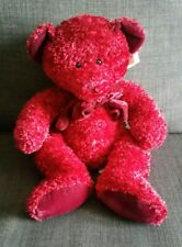 "Russ Berrie Rosetta Red Sparkly Bow Teddy Bear 12"""