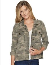 Lucky Brand Camo Military Army Combat Olive Green Camoflauge Shirt Jacket M New