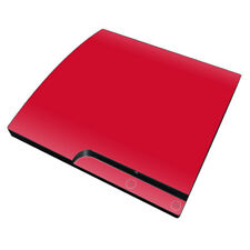 Sony PS3 Slim Console Skin - Solid Red - DecalGirl Decal