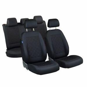 CAR SEAT COVERS FOR TOYOTA PRIUS FULL SET DEEP BLACK
