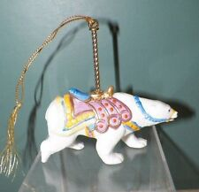 "Lenox Carousel Animals Christmas Decorative Ornament 1989 Polar Bear Euc 3 3/4"""