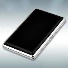 Black Pocket Leather Metal Tobacco 14 Cigarette Smoke Holder Storage Case top