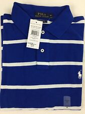Polo Ralph Lauren Stripe Mesh Mens Polo-shirt Custom Fit Size Medium