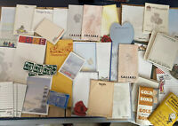 Mixed Vintage Lot Junk Drawer Office Paper Ephemera Notepads Stamps