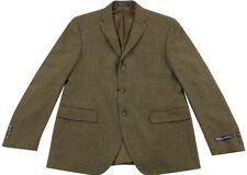 Corneliani for Ralph Lauren Polo Wool Cashmere Brown Check Blazer Jacket 44R/54R