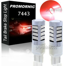 2x 7443 7440 992A W21W Super Red 92-SMD High Power LED Brake Tail Lights Bulb