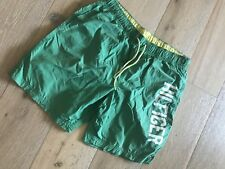 TOMMY HILFIGER MENS SHORTS BUILD IN PICKETS NYLON GREEN YELLOW SZ L