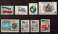 URUGUAY FLAG EMBLEMS COAT OF ARMS ALL MOST IMPORTANT MNH STAMPS NOT EASY TO GET