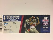 NEW YORK GIANTS VS LOS ANGELES CHARGERS OCTOBER 8, 2017 TICKET STUB
