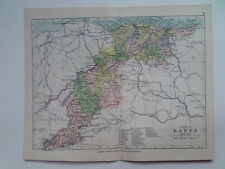 "BANFF COUNTY SCOTLAND ANTIQUE BARTHOLOMEWS MAP DATED 1898 7""x9""  PHILIPS ATLAS"