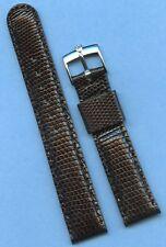 Rolex Tudor Steel Buckle, 19mm Genuine Black Lizard MB Strap Band Leather Lined