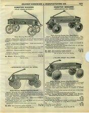 1932 PAPER AD Coaster Wagon Speedmore Flying Cloud Sonny World Flyer Dump Wagon