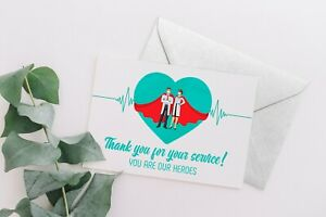Thank you doctor card / Thank you nurse card / Thank you healthcare worker card