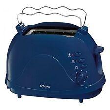 Bomann TA 246 CB Blau Toaster wärmeisoliertes Gehäuse  Auftaufunktion 700 Wat