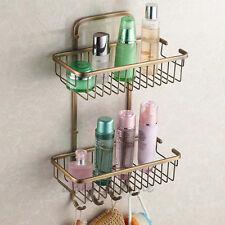 Antique Shower Caddy Corner Shelf Storage Basket Bathroom Towel Hook Rack Holder