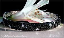 Zeitlos/Elegant! Schwarze Diamanten Armreif mit Brillanten 4,45 ct. WG585 5.900€