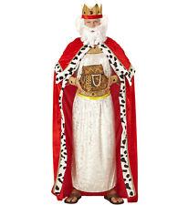 Biblischer König Umhang Krone Köigskostüm Weihnachten Bibelgeschichte Kostüm M L